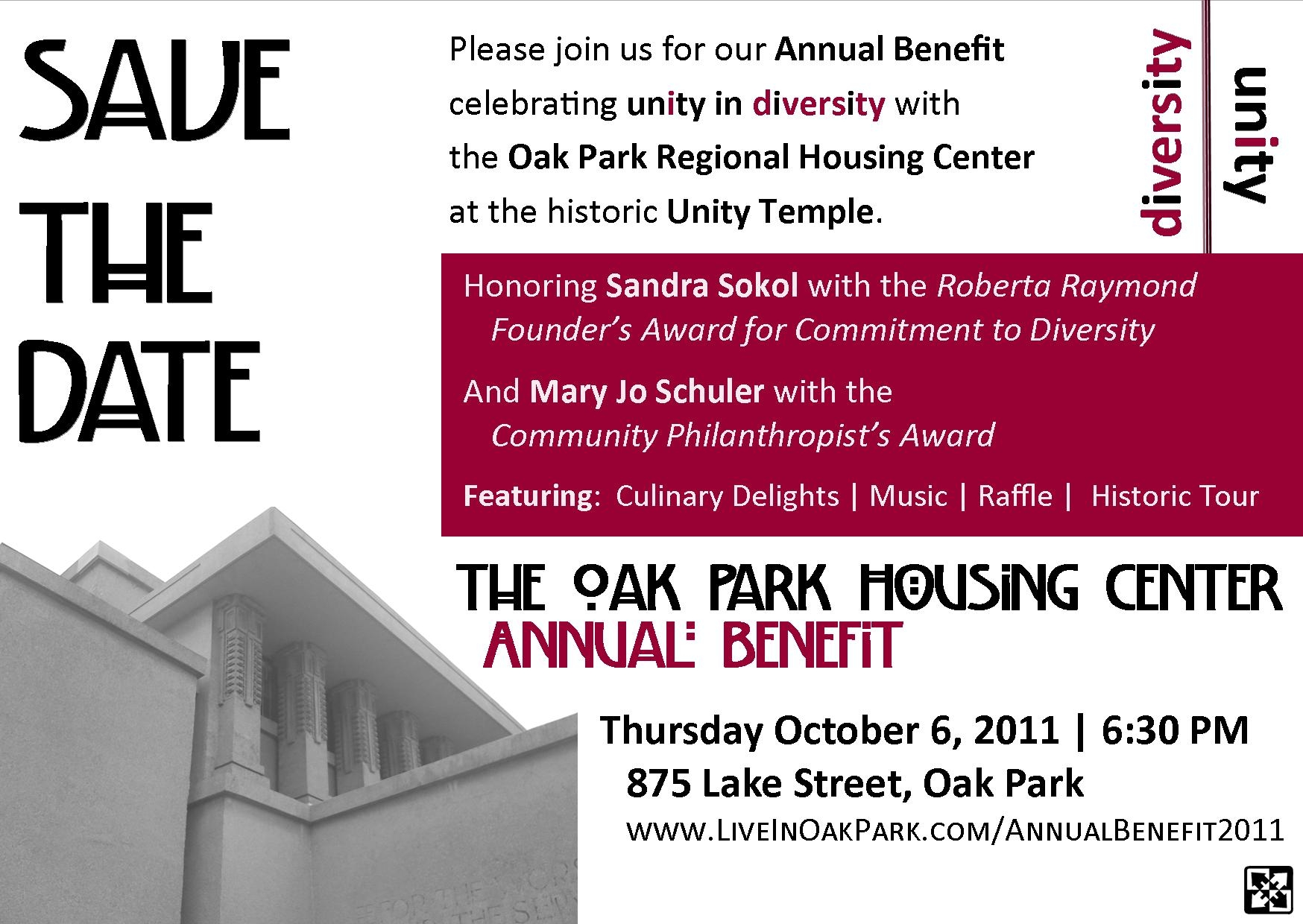 2011AnnualBenefitSavetheDate