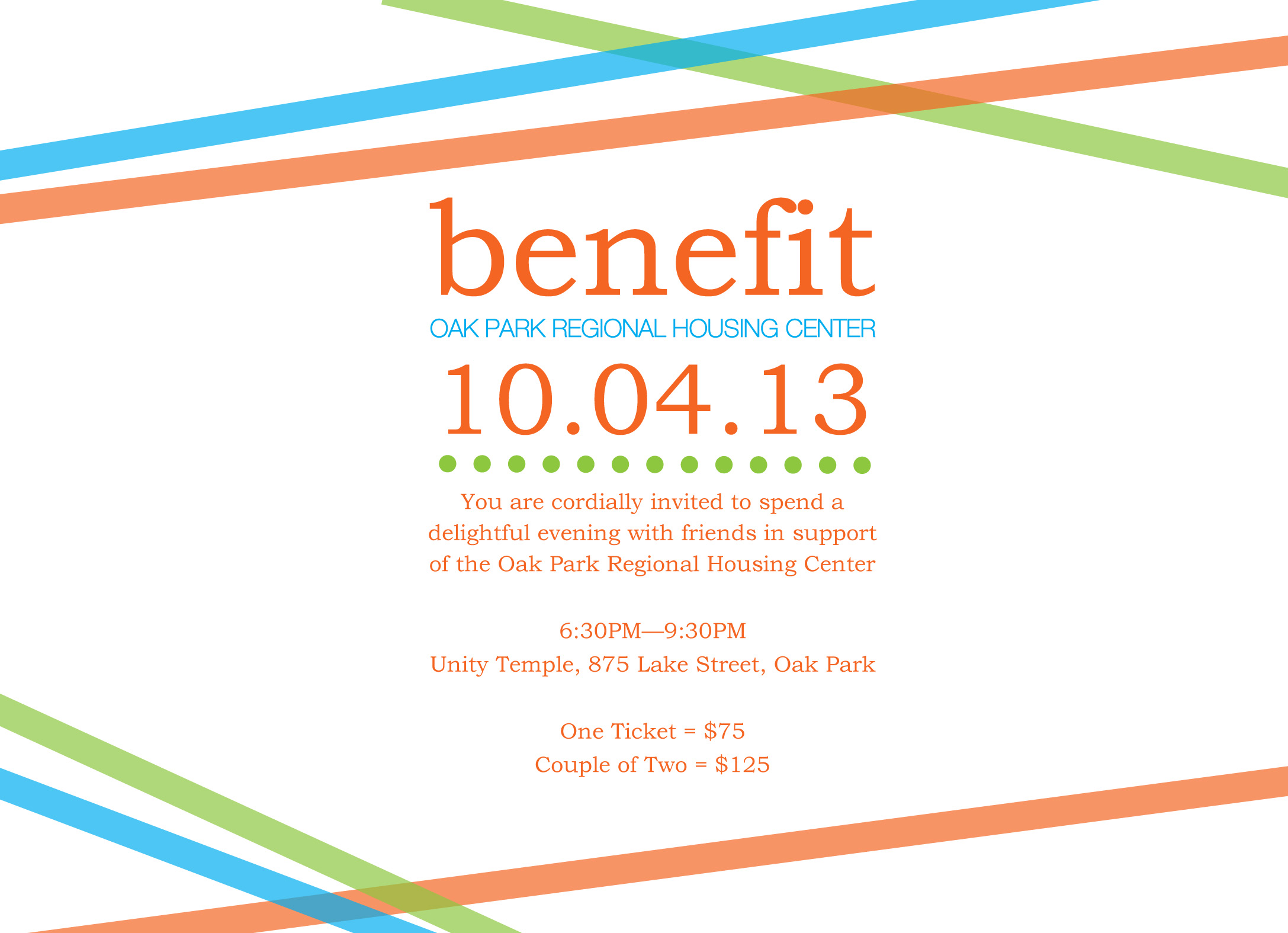 Benefit Invitation 9.6.13 – Oak Park Regional Housing Center